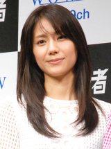 『連続ドラマW 闇の伴走者』の完成披露試写会イベントに出席した松下奈緒