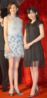 映画『バードマン あるい(無知がもたらす予期せぬ奇跡)』ジャパンプレミアに出席した(左から)米倉涼子、小芝風花