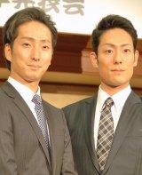 中村小山三さんの訃報を受けコメントを発表した(左から)中村七之助、中村勘九郎 (C)ORICON NewS inc.