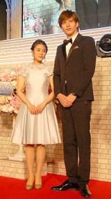 映画『シンデレラ』のジャパンプレミアに出席した(左から)高畑充希、城田優 (C)ORICON NewS inc.