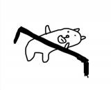 【田辺誠一作品】リンボーダンスをしてみたかっこいい犬