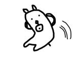 【田辺誠一作品】腹筋を始めたかっこいい犬