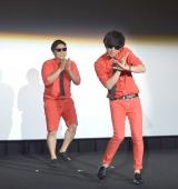 映画『ワイルドスピード SKY MISSION』日本語吹き替え版お披露目イベントに出席した8.6秒バズーカー (C)ORICON NewS inc.
