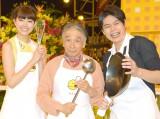 堺正章(中央)がMCを務めるTBS系『新チューボーですよ!』に平成ノブシコブシの吉村崇(右)と森星(左)が加入 (C)ORICON NewS inc.