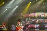 高さ2.5メートル、全面鏡で制作された象に乗って歌唱 『ayumi hamasaki ARENA TOUR 2015 A Cirque de Minuit〜真夜中のサーカス〜』(12日、さいたまスーパーアリーナ公演) より