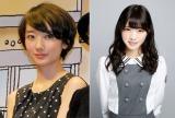 『non-no』(集英社)5月号で同誌専属モデルを卒業した波瑠(左)と、6月号より専属モデルとして活動する乃木坂46の西野七瀬(右)