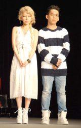 『カローラフィールダー』PRイベントに出席した(左から)加藤ミリヤ、清水翔太 (C)ORICON NewS inc.