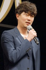 映画『寄生獣 完結編』完成披露舞台あいさつに出席した新井浩文 (C)ORICON NewS inc.