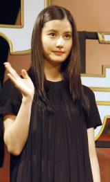 映画『寄生獣 完結編』完成披露舞台あいさつに出席した橋本愛 (C)ORICON NewS inc.