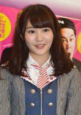 『ハイスクールマンザイ2015〜H-1 甲子園〜』開催発表会見にゲストで登場したNMB48・川上礼奈 (C)ORICON NewS inc.