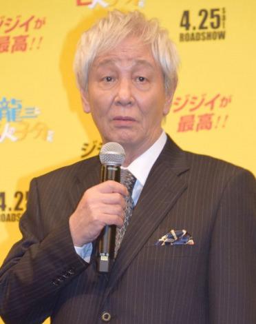 映画『龍三と七人の子分たち』完成披露舞台あいさつに出席した近藤正臣 (C)ORICON NewS inc.