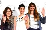 ランコム生誕80周年記念イベントに参加した(左から)メイクアップ・クリエイティブ・ディレクターのリサ・エルドリッジさん 、モデルでタレントのマリエ、モデルのカロリーヌ・ド・メグレ(C)oricon ME inc.