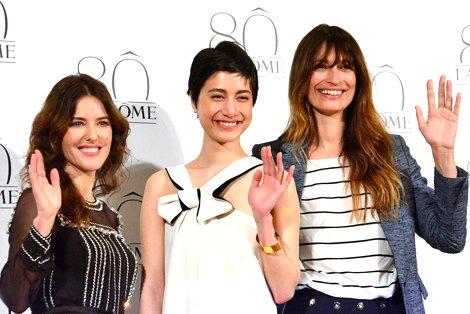 サムネイル ランコム生誕80周年記念イベントに参加した(左から)メイクアップ・クリエイティブ・ディレクターのリサ・エルドリッジさん 、モデルでタレントのマリエ、モデルのカロリーヌ・ド・メグレ(C)oricon ME inc.