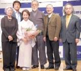 映画『ゆずり葉の頃』完成報告記者会見の模様 (C)ORICON NewS inc.