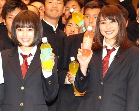 サムネイル 男子校に姉妹でサプライズで登場した、広瀬すず、広瀬アリス (C)ORICON NewS inc.