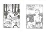 WOWOW『連続ドラマW 闇の伴走者』より。左(画:田中圭一)が発見された未発表作の1ページ。ここから迷宮入りの事件の謎が! 右は『マンチュリアンクラッチ』(画:伊藤潤二)(C)WOWOW