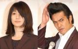 TBS系『ヤメゴク〜ヤクザやめて頂きます〜』に出演する(左から)大島優子、北村一輝 (C)ORICON NewS inc.