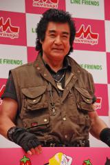 イベントに出席した藤岡弘、=『LINE FRIENDS アイス いちごれん乳』新商品発表会 (C)ORICON NewS inc.