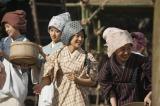 大河ドラマ『花燃ゆ』第22回「妻と奇兵隊」(5月31日放送)の「女台場」の築造シーン(C)NHK