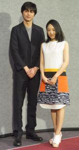 大河ドラマ『花燃ゆ』の試写会に出席した(左から)東出昌大、井上真央 (C)ORICON NewS inc.