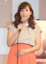 「すごい胎動を感じます」とお腹をさすりながら話した藤本美貴 (C)ORICON NewS inc.