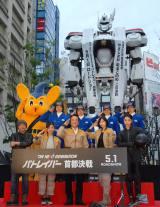 """新宿に出現した""""パトレイバー""""のイングラム 警視庁との初コラボも (C)ORICON NewS inc."""
