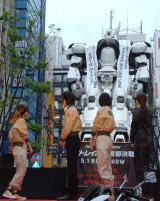 イングラムのデッキアップの模様=映画『THE NEXT GENERATION パトレイバー 首都決戦』警視庁コラボ新宿デッキアップイベントの模様 (C)ORICON NewS inc.