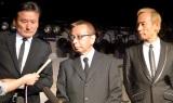 加瀬邦彦さんの訃報を受け都内で会見を行った「ザ・ワイルドワンズ」のメンバー(左から)島英二、鳥塚しげき、植田芳暁(C)ORICON NewS inc.