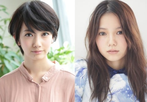 今秋スタートのNHK連続テレビ小説『あさが来た』ヒロイン・あさ役の波瑠(左)と、その姉・はつを演じる宮崎あおい(右)
