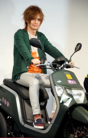 『Honda二輪車』新TVCM発表会に出席した喜矢武豊(C)ORICON NewS inc.