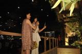 『リアル鬼ごっこ』のヒット祈願した(左から)篠田麻里子、トリンドル玲奈