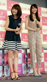 映画『ビリギャル』女子高校生限定イベントに出席した(左から)有村架純、松井愛莉(C)ORICON NewS inc.