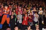 2年ぶりの映画最新作『ドラゴンボールZ 復活の「F」』が公開。ももいろクローバーZのメンバーと野沢雅子ら声優陣がヒット祈願の「かめはめ波!」(前列左から)山室直儀監督、佐藤正治、野沢雅子、堀川りょう、花江夏樹、(後列左から)孫悟空、有安杏果、佐々木彩夏、百田夏菜子、玉井詩織、高城れに、ベジータ (C)ORICON NewS inc.