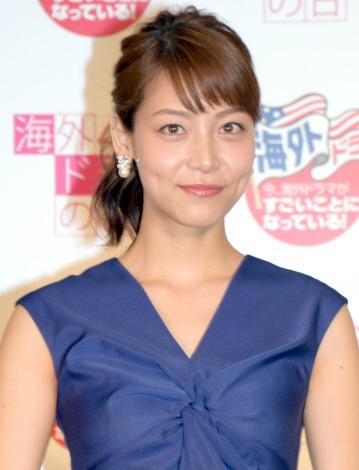 上戸彩の吉報に触発されたと明かした相武紗季=『第2回「4/28は海外ドラマの日」海ドラニスト2015』(C)ORICON NewS inc.