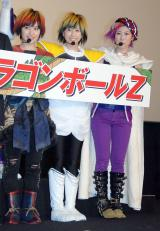 映画『ドラゴンボールZ 復活の「F」』超ヒット御礼舞台あいさつに出席した(左から)百田夏菜子、玉井詩織、高城れに(C)ORICON NewS inc.