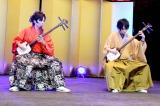 三味線デュオ・三味道(左から)ピエール小野、Michiaki