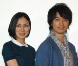 共演中のドラマの番宣合戦を行った(左から)板谷由夏、斎藤工(C)ORICON NewS inc.