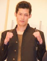 映画『ズタボロ』完成披露上映会で舞台あいさつを行った成田瑛基 (C)ORICON NewS inc.