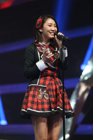 AKB48時代を通じて初のランクイン入りを果たした近野莉菜も喜びいっぱい(C)JKT48project