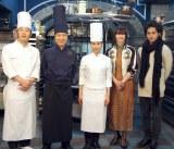 連続テレビ小説『まれ』の取材会に出席した(左から)鈴木拓、小日向文世、土屋太鳳、りょう、柳楽優弥 (C)ORICON NewS inc.