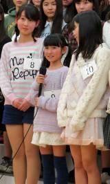 「身長は130センチくらいです」と明かすドラフト候補生の今村麻莉愛さん(11) (C)ORICON NewS inc.