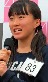 14歳にとっての秋元康プロデューサーは「おじさん」? ドラフト候補生の山根涼羽さん(14) (C)ORICON NewS inc.