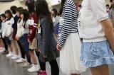 3次審査の結果をドキドキしながら待つ〜『AKB48グループ 第2回ドラフト会議 候補者オーディション』3次審査より(C)AKS