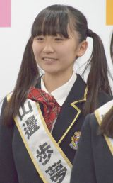 『第2回AKB48グループドラフト会議』でチームBに指名された山邊歩夢さん(13) (C)ORICON NewS inc.