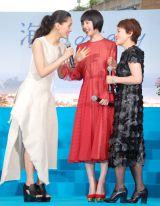 映画『海街diary』完成披露イベントに出席した(左から)綾瀬はるか、夏帆、大竹しのぶ (C)ORICON NewS inc.