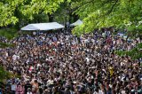 5000人の熱気でムンムンの米NYのセントラルパーク(C)AKS