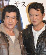 映画『ラン・オールナイト』公開直前イベントに出席した(左から)藤岡弘、、船越一郎 (C)ORICON NewS inc.