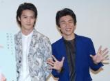 映画『鏡の中の笑顔たち』の完成披露試写会に出席した(左から)白石隼也、中尾明慶 (C)ORICON NewS inc.