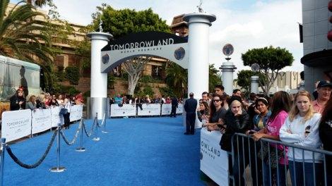 カルフォルニア州ロサンゼルス郊外のアナハイムにあるディズニーランド・リゾートで開催された映画『トゥモローランド』ワールドプレミアの模様