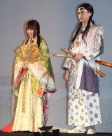 『au発表会 2015 summer』に出席した(左から)有村架純、松田翔太 (C)ORICON NewS inc.